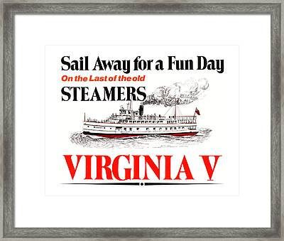 Sail Away For A Fun Day Framed Print by Jack Pumphrey