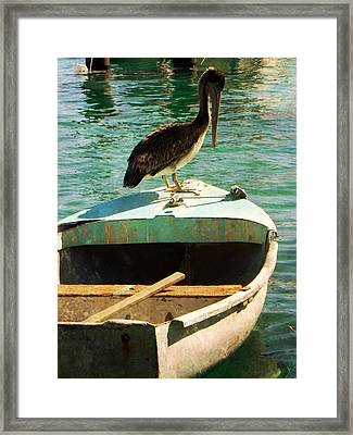 Sail Away Framed Print by Leah Moore