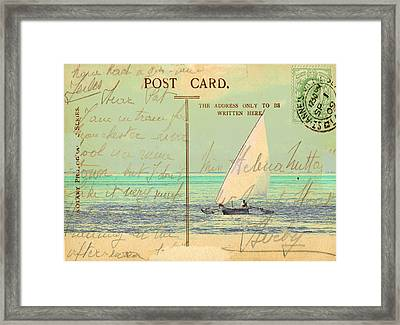 Sail Away Framed Print by Sarah Vernon