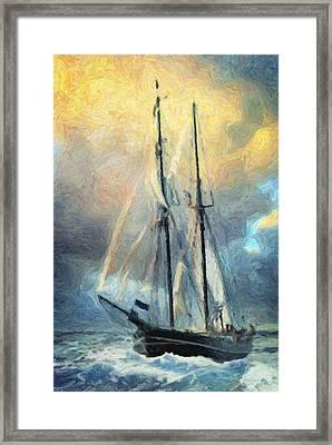 Sail Away To Avalon Framed Print by Taylan Apukovska