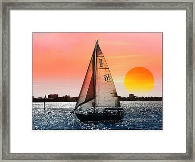 Sail Away With Me Framed Print by Athala Carole Bruckner