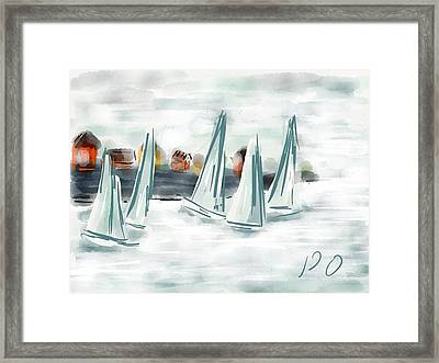 Sail Away With Me Framed Print by Patricia Olson