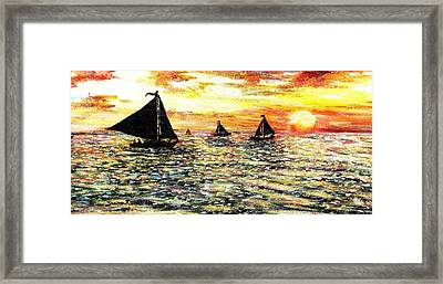 Framed Print featuring the painting Sail Away With Me by Shana Rowe Jackson