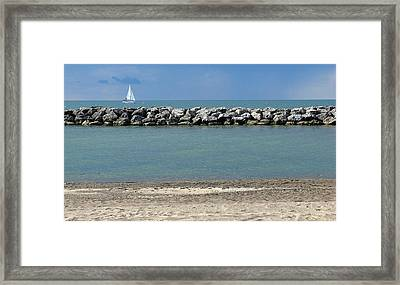 Sail Boat Framed Print by Jeffrey J Nagy