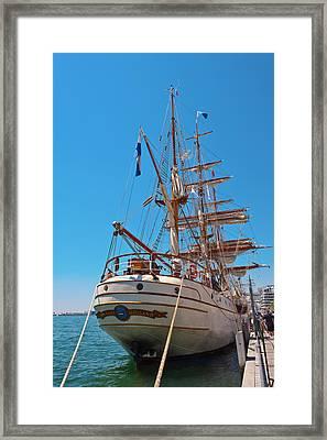 Sail Boat Framed Print by Marek Poplawski