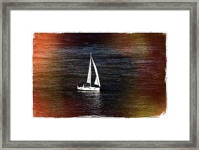 Sail Boat - Photograph Fine Art Print Framed Print by Laura Carter