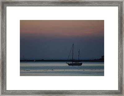 Sail Boat Port Jefferson New York Framed Print by Bob Savage