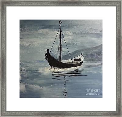 Sail-boat Framed Print
