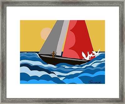 Sail Day Framed Print