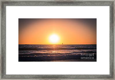 Sail Into The Sunset Framed Print