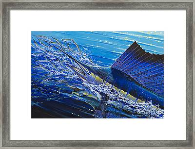 Sail On The Reef Off0082 Framed Print