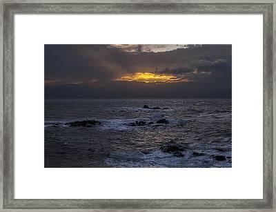 Sail Rock Sunrise 2 Framed Print by Marty Saccone