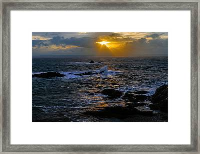 Sail Rock Sunrise Framed Print by Marty Saccone
