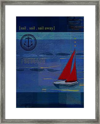 Sail Sail Sail Away - J173131140v02 Framed Print