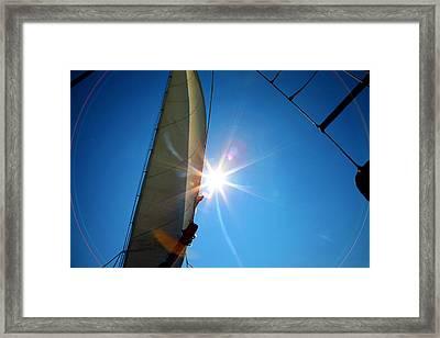 Sail Shine By Jan Marvin Studios Framed Print