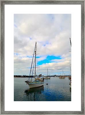 Sail With Me Framed Print by Regina Avila