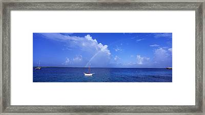 Sailboat Bonaire Netherlands Antilles Framed Print by Panoramic Images