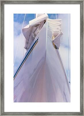 Sailboat Bow Framed Print