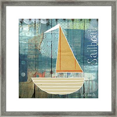Sailboat Collage Framed Print