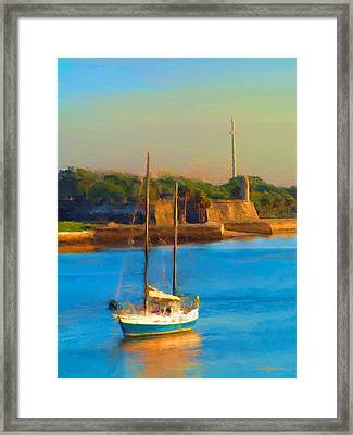 Da147 Sailboat By Daniel Adams Framed Print