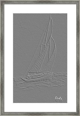 Sailboat Framed Print by Dusty Reed