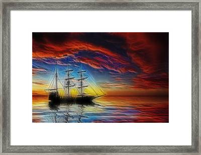 Sailboat Fractal Framed Print by Shane Bechler
