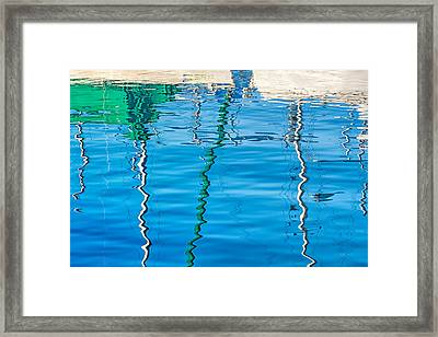 Sailboat Graphics Framed Print by Joan Herwig