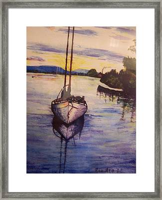 Sailboat In The Mangroves Of Costa Rica Framed Print by Ronald Ataide