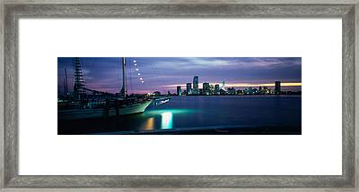 Sailboat In The Sea, Miami, Miami-dade Framed Print by Panoramic Images