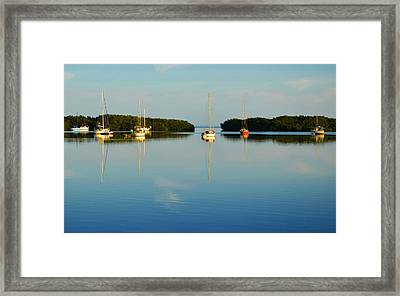 Sailboat Lagoon Framed Print