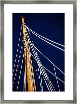 Sailboat Lines Framed Print by Karol Livote