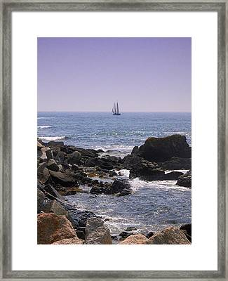 Sailboat - Maine Framed Print by Photographic Arts And Design Studio