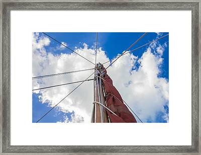 Framed Print featuring the photograph Sailboat Mast 1 by Leigh Anne Meeks