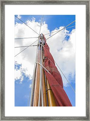 Framed Print featuring the photograph Sailboat Mast 2 by Leigh Anne Meeks