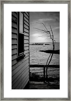 Sailboat Off Star Isle Framed Print