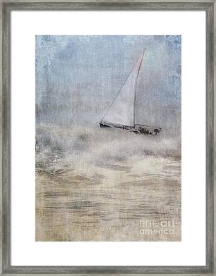 Sailboat On High Seas Framed Print