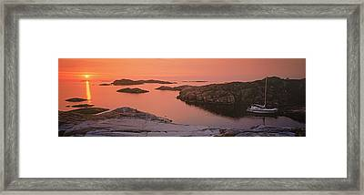Sailboat On The Coast, Lilla Nassa Framed Print by Panoramic Images