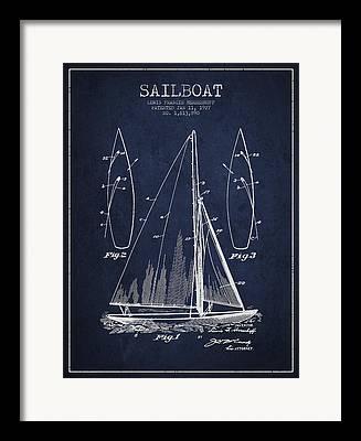 Sailboat Art Framed Prints