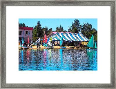 Sailboat Reflections Framed Print by Jan Matson