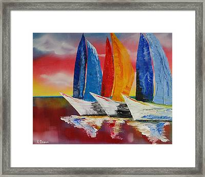 Sailboat Reflections Framed Print