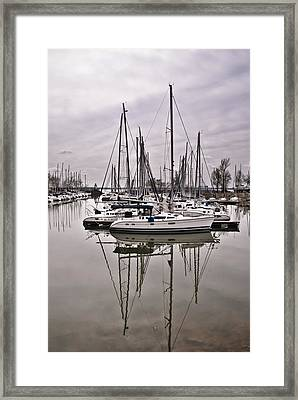 Sailboat Row Framed Print