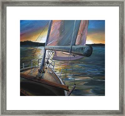 Smooth Sailing Framed Print