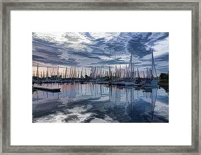 Sailboat Summer Impressions Framed Print by Georgia Mizuleva
