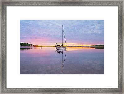 Sailboat Sunrise Framed Print by Gary McCormick
