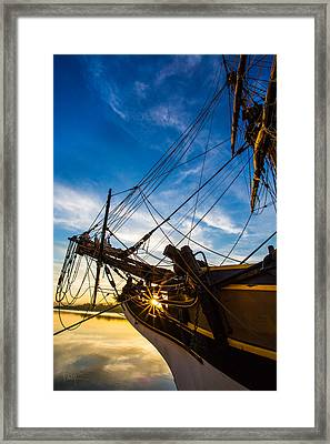 Sailboat Sunrise Framed Print