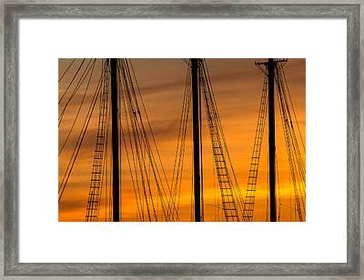Sailboat Sunrise Framed Print