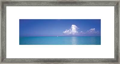 Sailboat, Turks And Caicos, Caribbean Framed Print by Panoramic Images
