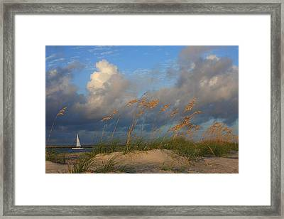 Framed Print featuring the photograph Sailboat Wrightsville Beach North Carolina  by Mountains to the Sea Photo