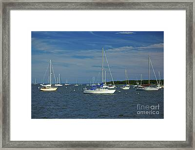 Sailboats Framed Print by Amazing Jules