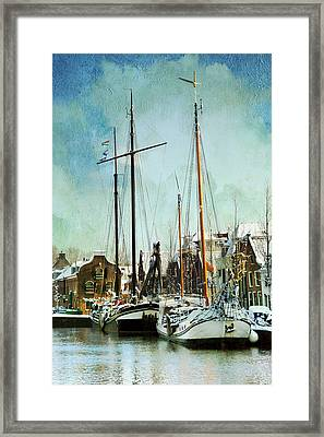 Sailboats Framed Print